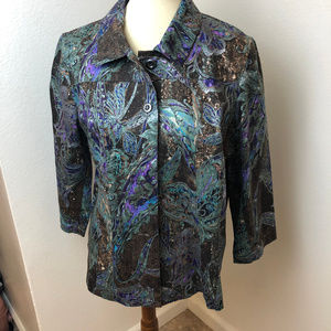 ADDITIONS by Chico's Print Jacket size 2.